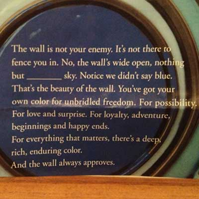 Week 15 - The Wall is Not Your Enemy